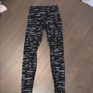 Black and White Patterned Lululemon leggings